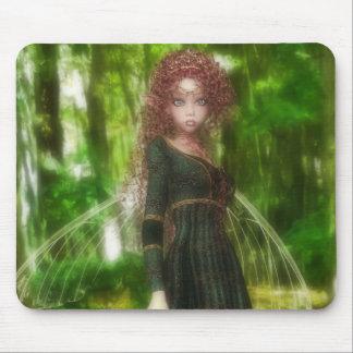 Princesse de fée de forêt tapis de souris