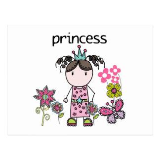 Princesse de jardin d'agrément cartes postales