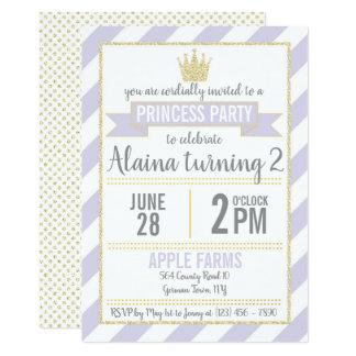 Princesse pourpre Birthday Invitation de parties