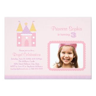 Princesse rose de l'invitation | de fête carton d'invitation  12,7 cm x 17,78 cm