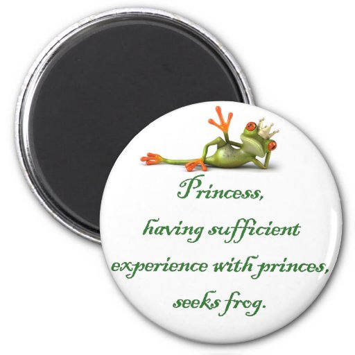 Princesse Seeks Frog Round Magnet Magnets Pour Réfrigérateur