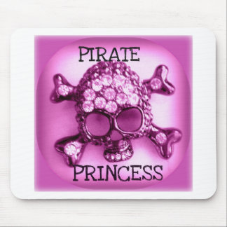 PRINCESSE SKULLY PINK PRINT DE PIRATE TAPIS DE SOURIS