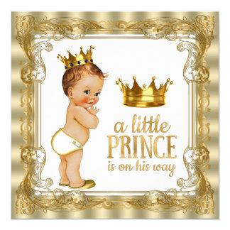 Prinz Babyparty Quadratische 13,3 Cm Einladungskarte