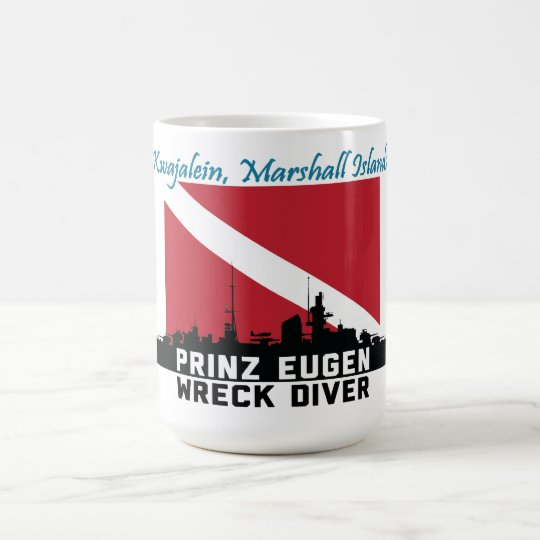 Prinz Eugen die Wrack-Taucher Kwajalein Tasse