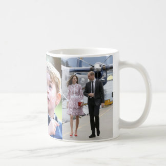 Prinz George u. William-Prinzessin Charlotte u. Tasse