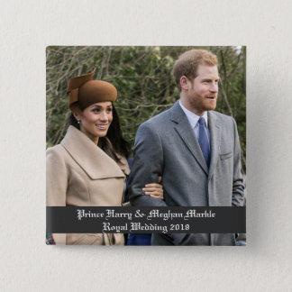 Prinz Harry u. Meghan Markle königliche Hochzeit Quadratischer Button 5,1 Cm