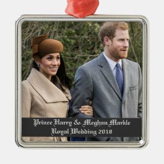 Prinz Harry u. Meghan Markle königliche Hochzeit Silbernes Ornament