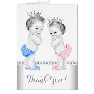Prinz und Prinzessin Thank You Mitteilungskarte
