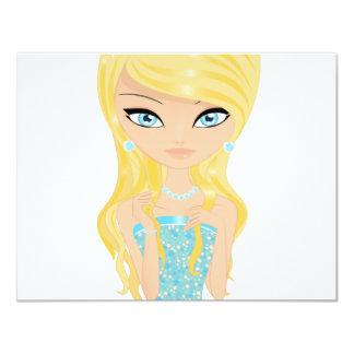 Prinzessin 10,8 X 14 Cm Einladungskarte