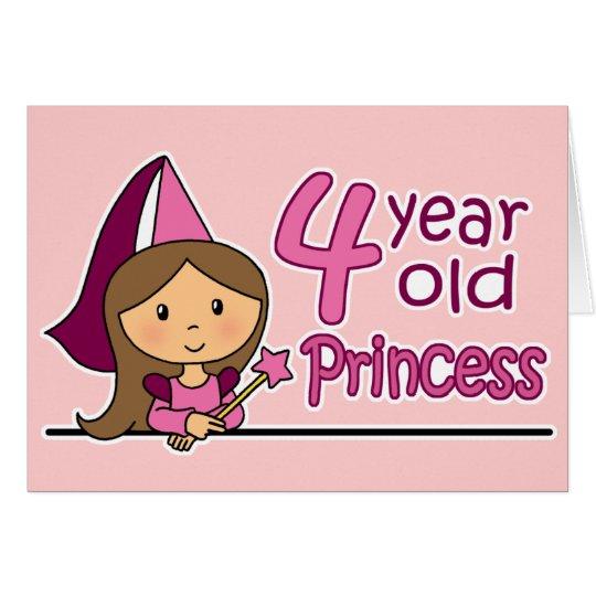 Prinzessin Age 4 Grußkarte