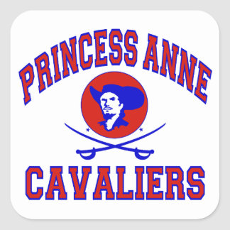 Prinzessin Anne Cavaliers Quadratischer Aufkleber