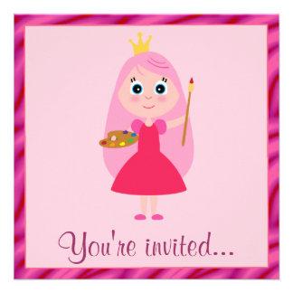 Prinzessin Arts und Handwerks-Geburtstags-Party Personalisierte Einladung