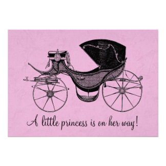 Prinzessin Babyparty Individuelle Einladungskarten