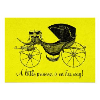 Prinzessin Babyparty Einladungskarten