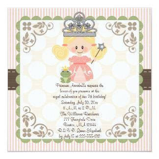 Prinzessin Birthday Foto Invitations Blonde Quadratische 13,3 Cm Einladungskarte