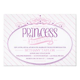 Prinzessin Birthday Invitation 12,7 X 17,8 Cm Einladungskarte