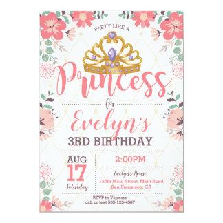 Prinzessin Birthday Invitation - Prinzessin Party Karte