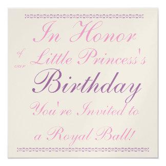 Prinzessin Birthday Invitation Quadratische 13,3 Cm Einladungskarte