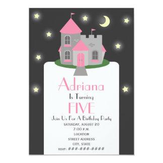 Prinzessin Castle Moon u. Stern-Geburtstags-Party 12,7 X 17,8 Cm Einladungskarte