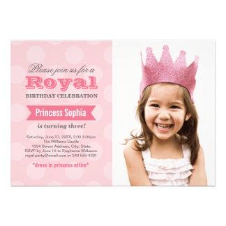 Prinzessin der Foto-Geburtstags-Party Einladungs- Einladungskarte
