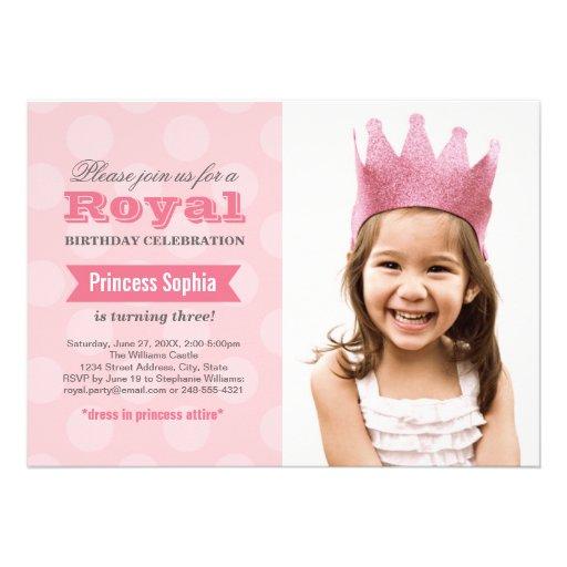 Prinzessin der Foto-Geburtstags-Party Einladungs-| Einladungskarte
