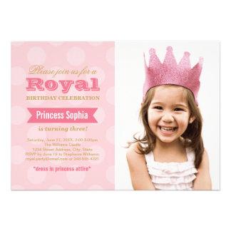Prinzessin der Foto-Geburtstags-Party Einladungs- Personalisierte Einladung