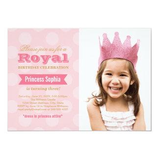 Prinzessin der Foto-Geburtstags-Party Einladungs-| 12,7 X 17,8 Cm Einladungskarte