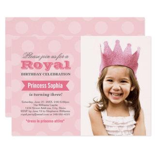 Prinzessin der Foto-Geburtstags-Party Einladungs-| Karte