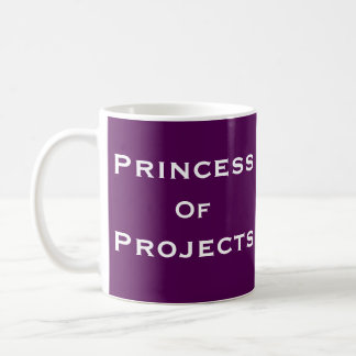 Prinzessin des Projekt-Frauen-Projektleiter-Namens Kaffeetasse