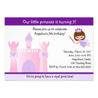 Prinzessin/feenhafte Schloss-Geburtstags-Einladung