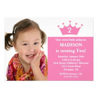 Prinzessin Foto Birthday Invitation Individuelle Ankündigung