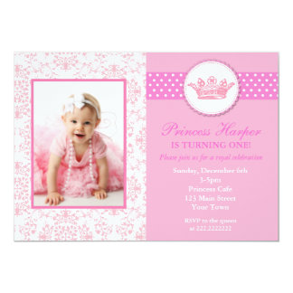 Prinzessin Foto Birthday Invitations 12,7 X 17,8 Cm Einladungskarte