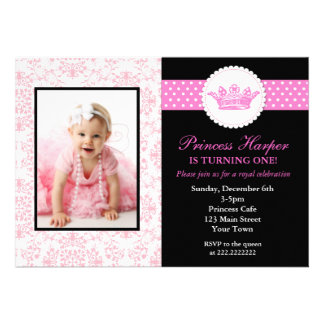 Prinzessin Foto Birthday Invitations Individuelle Einladungen