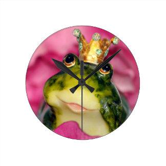 Prinzessin Frog Runde Wanduhr