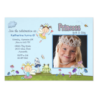 Prinzessin für das TagesFoto-Geburtstags-Party Personalisierte Ankündigungskarte