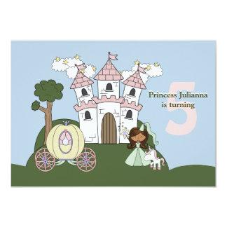 Prinzessin für einen Tag - Foto-Geburtstags-Party  Personalisierte Ankündigungskarte