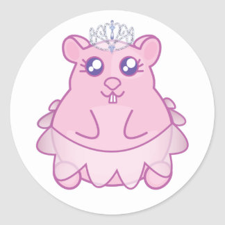 Prinzessin Hamster Stickers