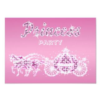 Prinzessin Horses u. Wagen-Geburtstags-Party 11,4 X 15,9 Cm Einladungskarte