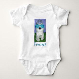 Prinzessin Humor/Tiara Baby Strampler
