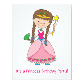 Prinzessin in der Art! 10,8 X 14 Cm Einladungskarte