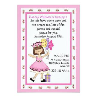 Prinzessin mit der Geburtstags-Einladung des 12,7 X 17,8 Cm Einladungskarte