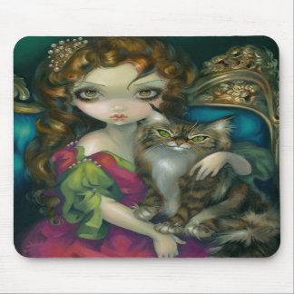 """""""Prinzessin mit einer Maine-Waschbär-Katze"""" Mousepads"""