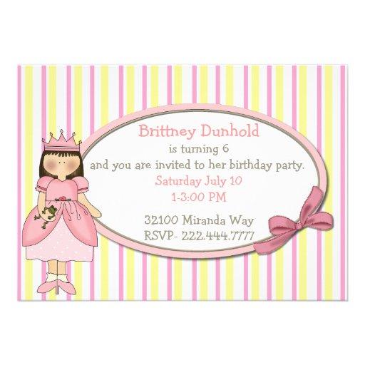 Prinzessin mit Frosch-Geburtstags-Party Einladung