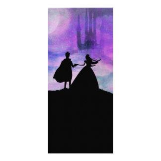 Prinzessin mit Prinz Gestell Karte Werbekarte