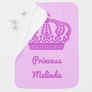"""Prinzessin"" Name-Babydecke Babydecke"