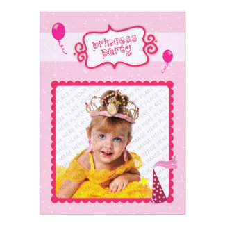 Prinzessin Party Personalisierte Ankündigungskarte