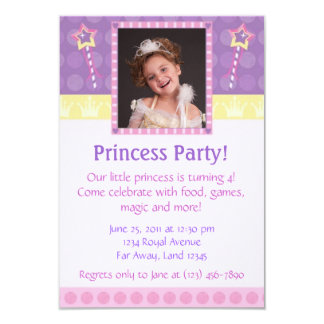 Prinzessin Party Foto Invitation Personalisierte Ankündigung