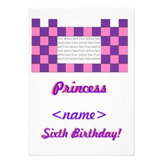 Prinzessin Pink lila Schloss-6 Geburtstags-Party