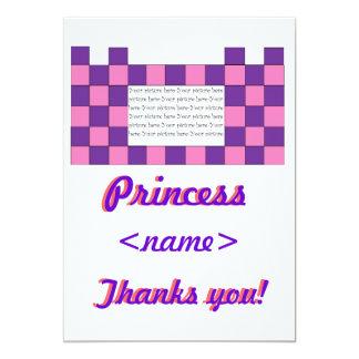 Prinzessin Pink/lila Schloss-drittes Geburtstags-P Individuelle Ankündigung