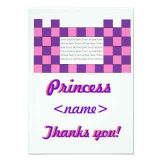 Prinzessin Pink/lila Schloss-erstes Geburtstags-Pa Einladungen